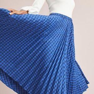 Anthropologie Tonal Gingham Skirt size L